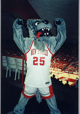 Lobo (New Mexico mascot) - Lobo Louie at The Pit, early 2000s