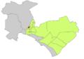 Localització de Son Fortesa sud respecte de Palma.png