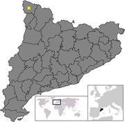 Location of Vielha