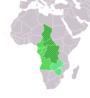 ที่ตั้งของภูมิภาคแอฟริกากลาง