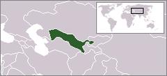 Położenie Uzbekistanu