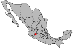 Jacona, Michoacán - Image: Location Zamora de Hidalgo