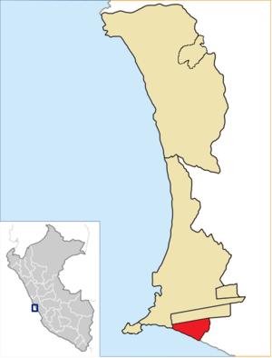 La Perla District - Image: Location of the district La Perla in Callao