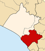 Location of the province Chiclayo in Lambayeque.png