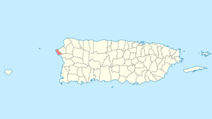 Location of Rincón in Puerto Rico
