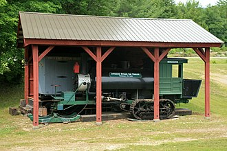 Half-track - A restored Lombard steam log hauler in New Hampshire, US, in 2008
