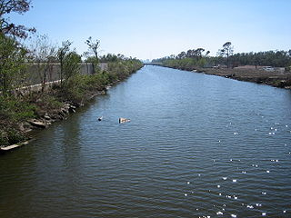 canal in Louisiana, United States of America