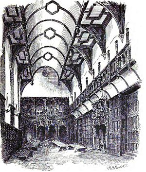 English: The Hall of the London Charterhouse. ...