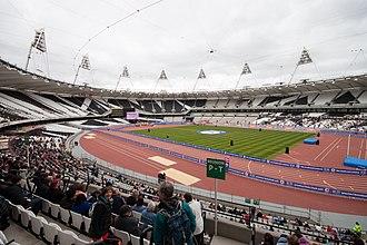 England 2018 FIFA World Cup bid - Image: London Olympic Stadium Interior March 2012