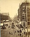Looking north on 1st Ave from James St showing July 4th parade, Seattle, Washington, ca 1890 (BOYD+BRAAS 83).jpg
