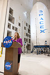 Lori Garver at Glenn with Falcon 9 fairing.jpg