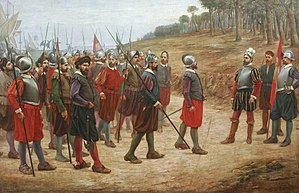 Spanish conquest of the Inca Empire - The Famous Thirteen by Juan Lepiani