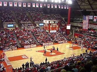 Louis Brown Athletic Center - Inside the RAC during a basketball game