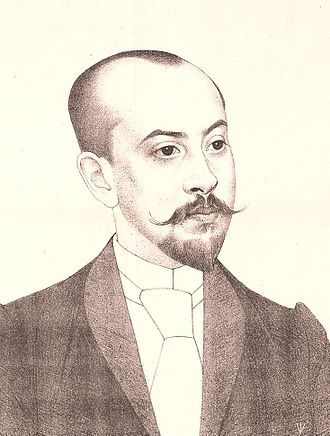 Louis Couperus - Louis Couperus after a drawing made by Bas Veth in 1892