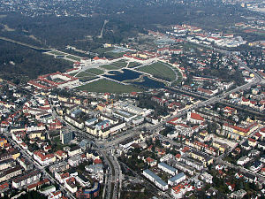 Neuhausen-Nymphenburg - Neuhausen-Nymphenburg with the Nymphenburg Palace Park