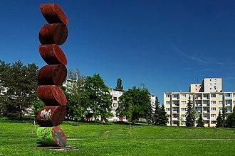 Košice-Západ - Park and sculpture   at a housing estate in Košice-Západ