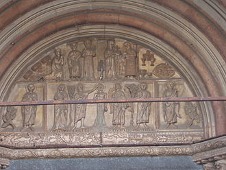 Monza Cathedral - Lunette over the portal