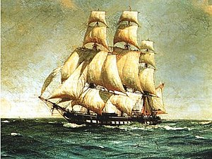 A frigate similar to HMS Lutine