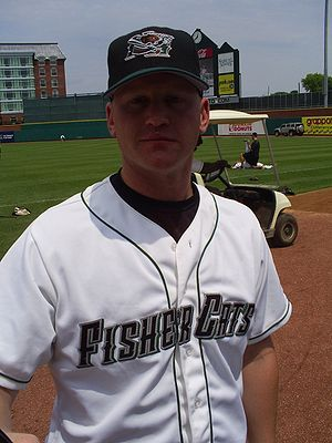 Lyle Overbay - Overbay while on a minor league rehab assignment with the New Hampshire Fisher Cats, Double-A affiliate of the Toronto Blue Jays
