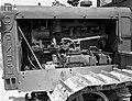 Mátyásföld, Újszász utca 41-43. Magyar Királyi Honvéd gépkocsiszertár, szovjet gyártmányú S-65 Sztalinyec traktor. Fortepan 72454.jpg