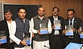 M.M. Pallam Raju releasing the National Book Trust (NBT) report on Reading Habits in the NE Region, in New Delhi on November 20, 2012. The Minister of State for Human Resource Development, Shri Jitin Prasada is also seen.jpg