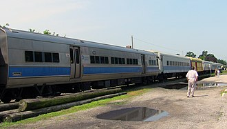 Railroad Museum of Long Island - Image: M1's, P 72's and other preserved LIRR Cars