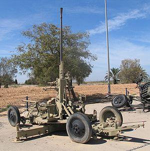 37 mm automatic air defense gun M1939 (61-K) - 61-K at IDF/AF Museum, Chatzerim airbase, Israel.