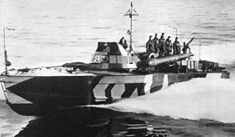 Francis A. Dales - Axis motor torpedo boat in the Mediterranean Sea, of a type similar to those that attacked the Santa Elisa