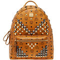 MCM Stark Backpack in Cognac Visetos
