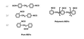 Methylene diphenyl diisocyanate - MDI isomers and polymer