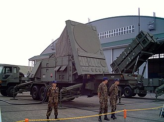 MIM-104 Patriot - A detailed view of an AN/MPQ-53 radar set