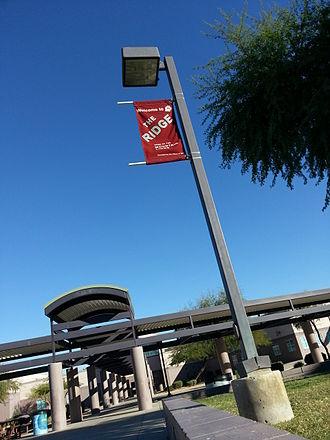 Mountain Ridge High School (Arizona) - Banner at MRHS