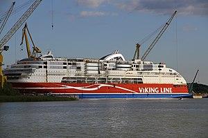 MS Viking Grace, Pernon telakka, Hahdenniemen venesatama, Raisio, 11.8.2012 (19).JPG