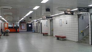 MiWay - MiWay service booth and platforms at Islington Subway Station