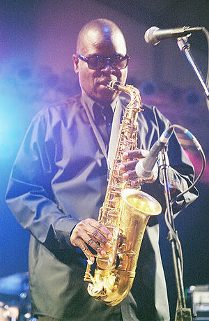 Maceo Parker - Parker performing at the 2002 Bonnaroo Music Festival in Manchester, Tennessee.