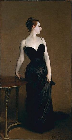 Portrait of Madame X - Image: Madame X (Madame Pierre Gautreau), John Singer Sargent, 1884 (unfree frame crop)