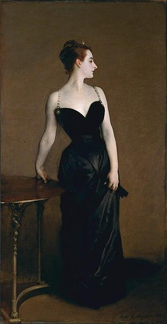 Virginie Amélie Avegno Gautreau - John Singer Sargent, Portrait of Madame X (Madame Pierre Gautreau), 1884, oil on canvas, 234.95 x 109.86 cm, Metropolitan Museum of Art