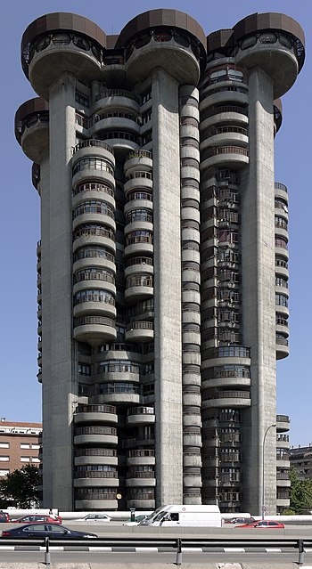 Madrid Torres Blancas close view