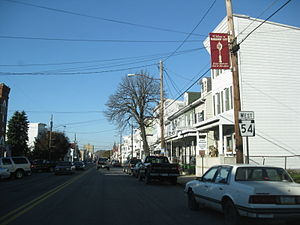 Pennsylvania Route 54 - PA 54 westbound in Mahanoy City