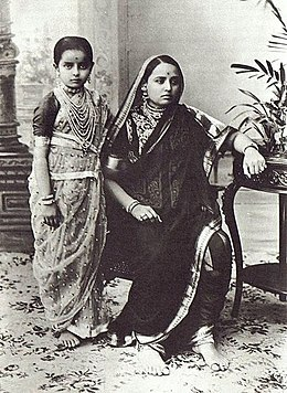 Maharani Chimnabai of Baroda with her daughter Indira Devi.jpg