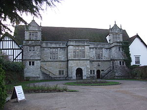 Archbishop's Palace, Maidstone - The entrance frontage of the Archbishop's Palace