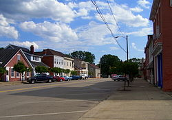 Along Main Street in Kingston, Ohio