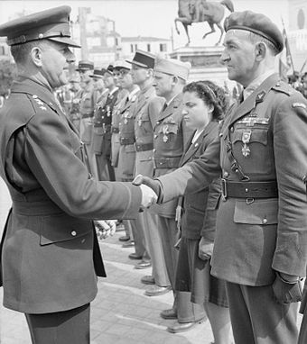General Jacob Devers with Major Mieczyslaw Slowikowski, on awarding him the Legion of Merit for his invaluable contributions to the Allied North African campaign. Major Mieczyslaw Rygor Slowikowski.jpg