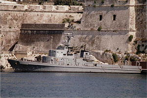 Volksmarine - The Kondor class minesweeper Ueckermuende (transferred to Malta as P30)