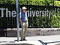 Man at Crosswalk outside University of Sydney Entrance - Sydney - Australia (11231834753).jpg