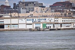 Pier 40 at Hudson River Park - The side of Pier 40.