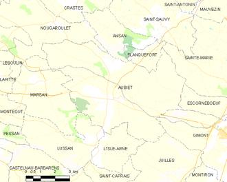 Aubiet - Aubiet and its surrounding communes