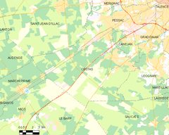 Map commune FR insee code 33122.png