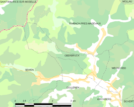 Mapa obce Oberbruck