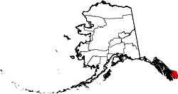 map of Alaska highlighting Ketchikan Gateway Borough